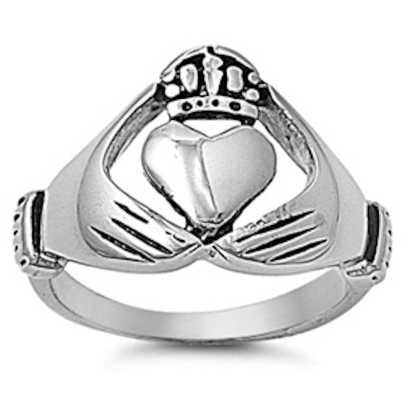 Claddagh Stainless Steel Ring Size 5-14