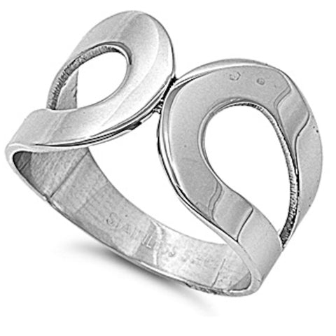 Hoop Design Stainless Steel Ring Size 5-9