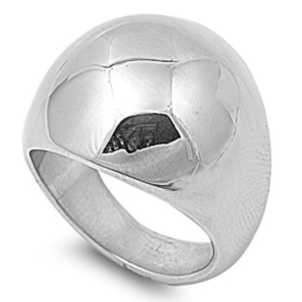 Clear Cubic Zirconia Stainless Steel Ring Size 6-13