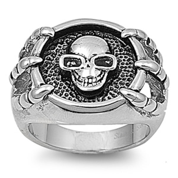 Skull with Eyewear Stainless Steel Ring Size 9-15