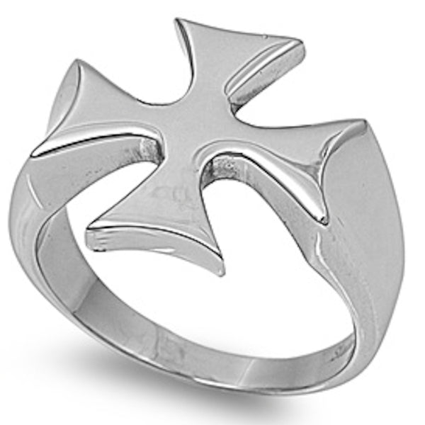 Solid Royal Sign Stainless Steel Ring Size 7-13