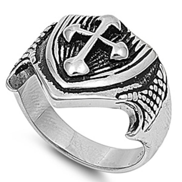 Medieval Royal Sign Stainless Steel Ring Size 8-13