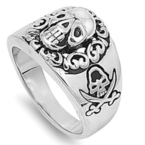 Pirate's Heavy Ring Stainless Steel Ring Size 8-14