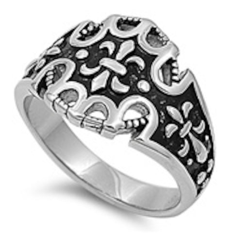 For Royal Stainless Steel Ring Size 8-13