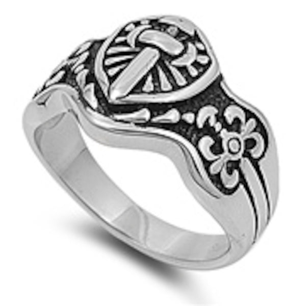 Sword of Power Stainless Steel Ring Size 8-13