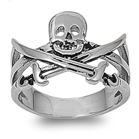 Pirate's Sign Stainless Steel Ring Size 9-14