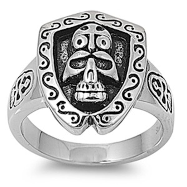 King Of The Tribe Skull Stainless Steel Ring Size 9-14