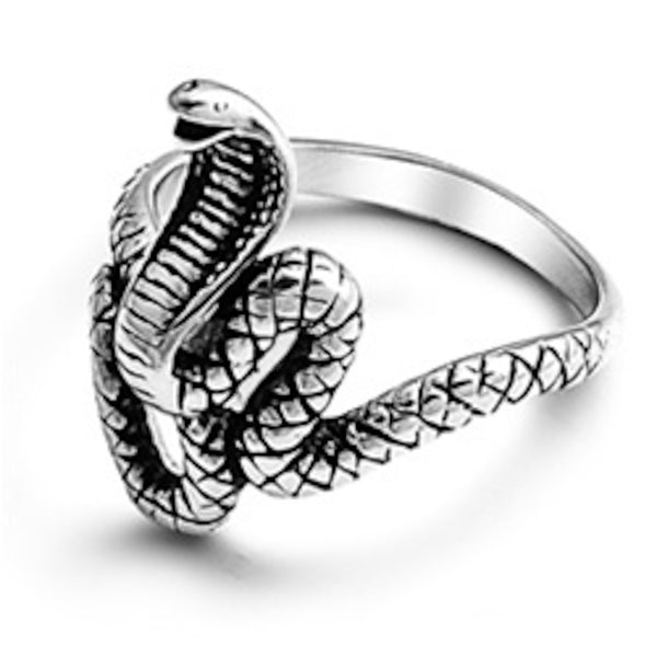 King Cobra Stainless Steel Ring Size 9-13