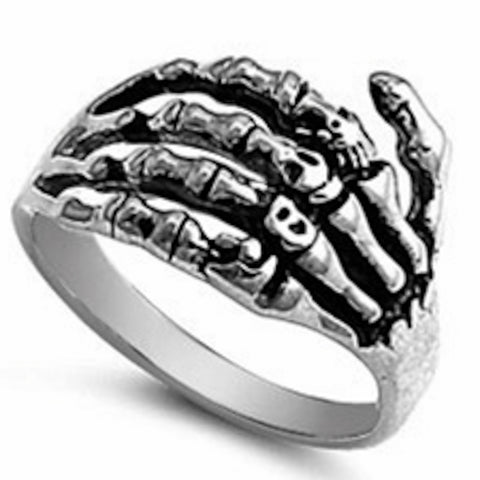 Bones Of Hand Stainless Steel Ring Size 7-15