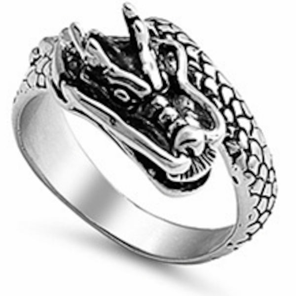 Chinese Dragon Stainless Steel Ring Size 9-14