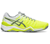 Asics Gel Resolution 7 - Safety Yellow/Stone Grey - Win Well Tennis
