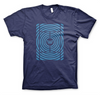 Win Well- Hypnotic Court Tee Blue - Win Well Tennis
