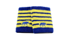 Win Well - Wolf Striped Wristband Blue/Yellow 2 Pack