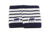 Win Well - Wolf Striped Wristband Navy/White 2 Pack - Win Well Tennis