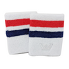 Win Well - US Open 4 Inch White Wristband 2 Pack - Win Well Tennis