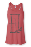 Win Well - Court Tank Hot Pink - Win Well Tennis