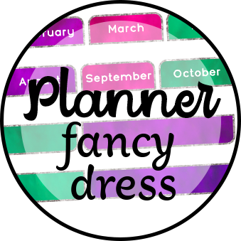 Planner fancy dress