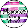 planner fancy dress - tab, day and month covers