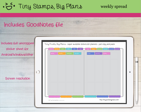 Digital Stickers - Digital Goodnotes pack - Planner fancy dress stickers - pastel - Tiny Pixels, Big Plans