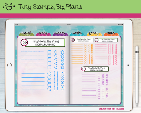 Digital Stickers - Digital stickers - traditional checklist set - Tiny Stamps Big Plans