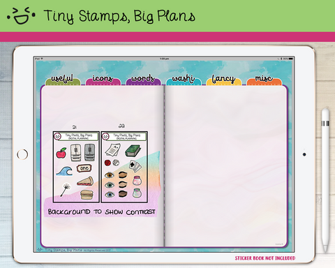 Digital Stickers - Digital stickers - icon set 21 & 22 - Tiny Stamps Big Plans