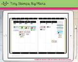 Digital Stickers - Digital Goodnotes pack - Planning icons and words - Tiny Stamps Big Plans
