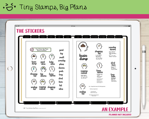 Digital Stickers - Digital stickers - brain dump list - Tiny Stamps Big Plans