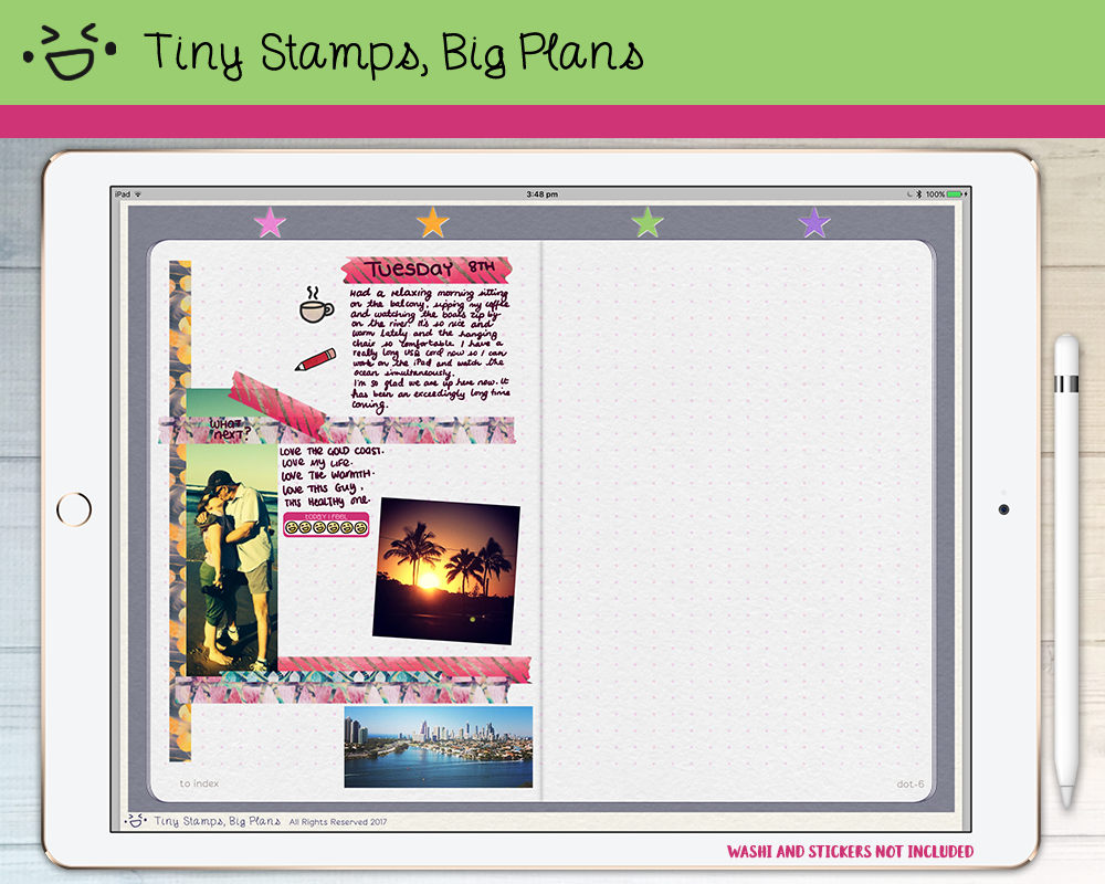 Monster image inside free digital planner pdf