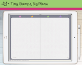 Digital Planner - Digital planner PDF - mixed grid notebook - Tiny Stamps Big Plans