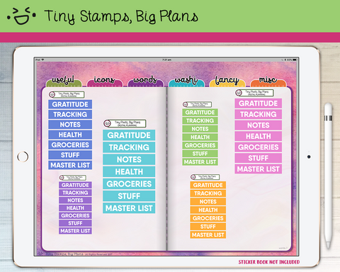 Digital Stickers - Digital stickers - pastel chunky headers (4) - Tiny Stamps Big Plans