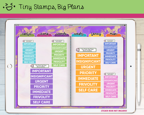 Digital Stickers - Digital stickers - pastel chunky headers (5) - Tiny Stamps Big Plans