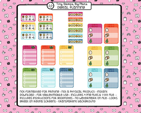 Digital Stickers - Digital stickers - functional rainbow - Tiny Stamps Big Plans
