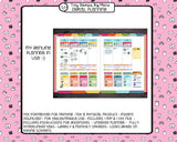 Digital planner PDF - undated rainbow