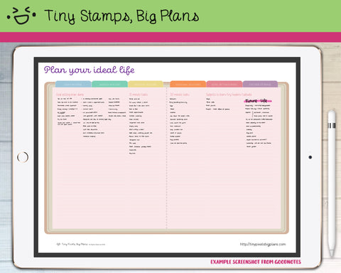 Digital Stickers - Plan Your Ideal Life (PDF only) - Tiny Pixels, Big Plans