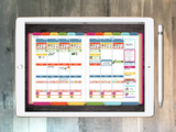 Digital Planner - Digital planner PDF - undated rainbow - Tiny Stamps Big Plans