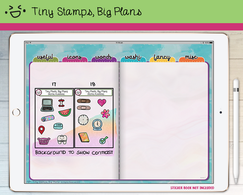 Digital Stickers - Digital stickers - icon set 17 & 18 - Tiny Stamps Big Plans