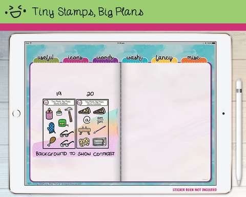 Digital Stickers - Digital stickers - icon set 19 & 20 - Tiny Stamps Big Plans