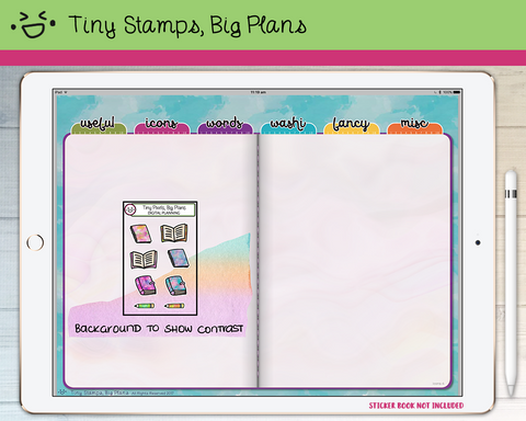 Digital Stickers - Digital stickers - stationery icons - Tiny Stamps Big Plans