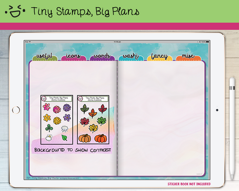Digital Stickers - Digital stickers - spring and autumn / fall icons - Tiny Stamps Big Plans
