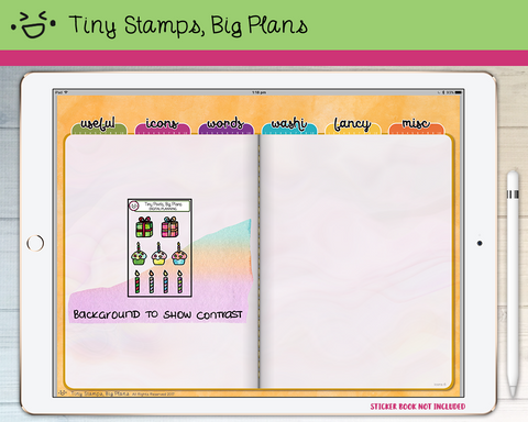 Digital Stickers - Digital stickers - party icons - Tiny Stamps Big Plans