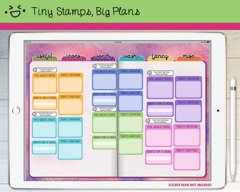 Digital Stickers - Digital stickers - pastel goals and intentions - Tiny Stamps Big Plans