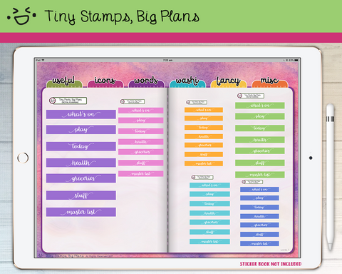 Digital Stickers - Digital stickers - pastel headers (4) - Tiny Stamps Big Plans