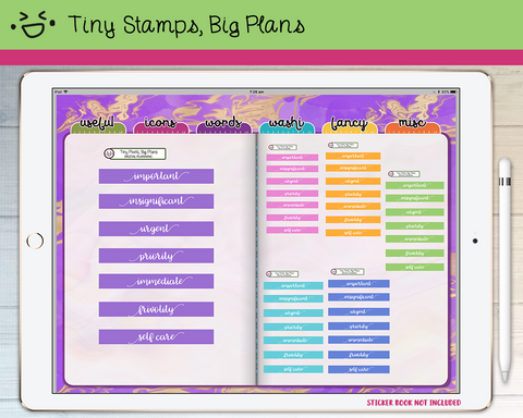 Digital Stickers - Digital stickers - pastel headers (5) - Tiny Stamps Big Plans