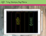 Digital Planner - Digital planner PDF - 2018 full screen - Tiny Stamps Big Plans