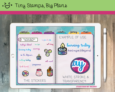 Digital Stickers - Digital stickers - fragrance icon and word stickers - Tiny Stamps Big Plans