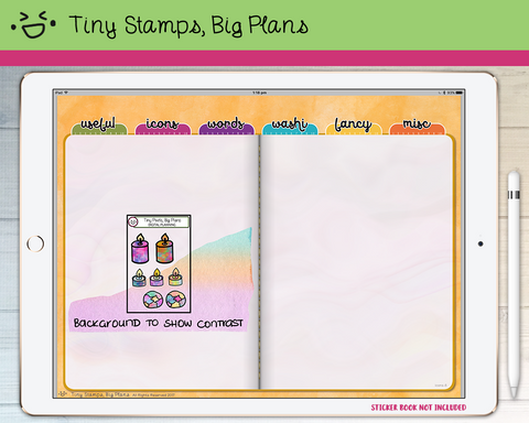 Digital Stickers - Digital stickers - relaxation icons - Tiny Stamps Big Plans