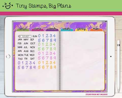 Digital Stickers - Digital stickers - mini short dates - Tiny Stamps Big Plans