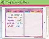 Digital Stickers - Digital stickers - watercolour words - fitness - Tiny Stamps Big Plans