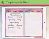 Digital Stickers - Digital stickers - watercolour words - titles 2 - Tiny Stamps Big Plans