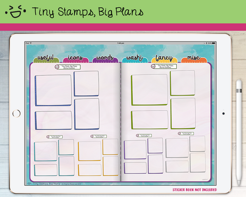 Digital Stickers - Digital stickers - shaded journal boxes - Tiny Stamps Big Plans